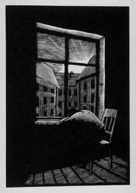 Seventeenth image (of eighteen) for Burden , chapter 14 in the book Destiny, A Novel in Pictures by Otto Nückel (New York: Farrar and Rinehart,Inc. [1930 ])