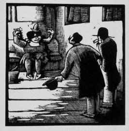 Second image (of sixteen) for Crime , chapter 15 in the book Destiny, A Novel in Pictures by Otto Nückel (New York: Farrar and Rinehart,Inc. [1930 ])