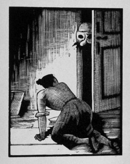Fifth image (of sixteen) for Crime , chapter 15 in the book Destiny, A Novel in Pictures by Otto Nückel (New York: Farrar and Rinehart,Inc. [1930 ])