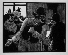 Ninth image (of sixteen) for Crime , chapter 15 in the book Destiny, A Novel in Pictures by Otto Nückel (New York: Farrar and Rinehart,Inc. [1930 ])