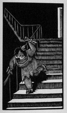 Eleventh image (of sixteen) for Crime , chapter 15 in the book Destiny, A Novel in Pictures by Otto Nückel (New York: Farrar and Rinehart,Inc. [1930 ])