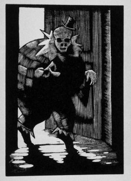 Twelfth image (of sixteen) for Crime , chapter 15 in the book Destiny, A Novel in Pictures by Otto Nückel (New York: Farrar and Rinehart,Inc. [1930 ])