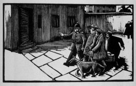 Fifteenth image (of sixteen) for Crime , chapter 15 in the book Destiny, A Novel in Pictures by Otto Nückel (New York: Farrar and Rinehart,Inc. [1930 ])