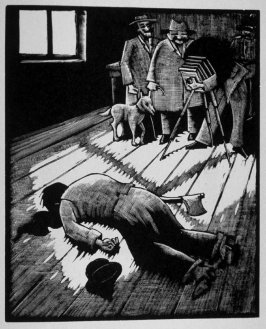 Sixteenth image (of sixteen) for Crime , chapter 15 in the book Destiny, A Novel in Pictures by Otto Nückel (New York: Farrar and Rinehart,Inc. [1930 ])