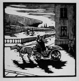 First image (of nine) for Escape , chapter 16 in the book Destiny, A Novel in Pictures by Otto Nückel (New York: Farrar and Rinehart,Inc. [1930 ])