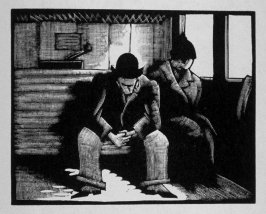 Third image (of nine) for Escape , chapter 16 in the book Destiny, A Novel in Pictures by Otto Nückel (New York: Farrar and Rinehart,Inc. [1930 ])