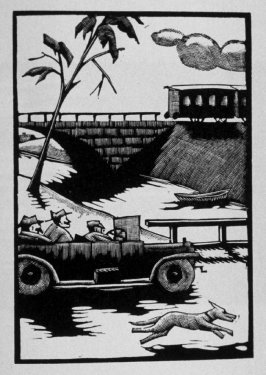 Fourth image (of nine) for Escape , chapter 16 in the book Destiny, A Novel in Pictures by Otto Nückel (New York: Farrar and Rinehart,Inc. [1930 ])