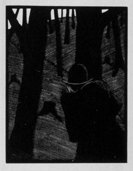 Eighth image (of nine) for Escape , chapter 16 in the book Destiny, A Novel in Pictures by Otto Nückel (New York: Farrar and Rinehart,Inc. [1930 ])
