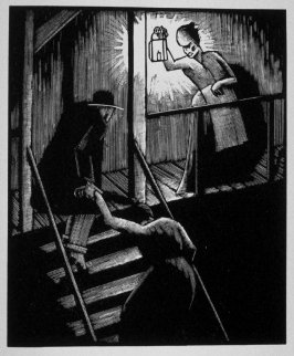 Second image (of fifteen) for The End , chapter 17 in the book Destiny, A Novel in Pictures by Otto Nückel (New York: Farrar and Rinehart,Inc. [1930 ])
