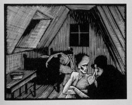Third image (of fifteen) for The End , chapter 17 in the book Destiny, A Novel in Pictures by Otto Nückel (New York: Farrar and Rinehart,Inc. [1930 ])