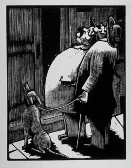 Sixth image (of fifteen) for The End , chapter 17 in the book Destiny, A Novel in Pictures by Otto Nückel (New York: Farrar and Rinehart,Inc. [1930 ])