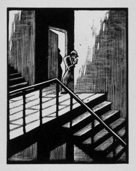 Seventh image (of fifteen) for The End , chapter 17 in the book Destiny, A Novel in Pictures by Otto Nückel (New York: Farrar and Rinehart,Inc. [1930 ])