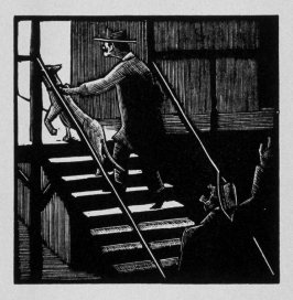 Eighth image (of fifteen) for The End , chapter 17 in the book Destiny, A Novel in Pictures by Otto Nückel (New York: Farrar and Rinehart,Inc. [1930 ])