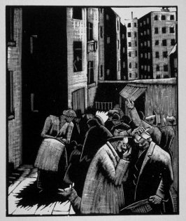 Twelfth image (of fifteen) for The End , chapter 17 in the book Destiny, A Novel in Pictures by Otto Nückel (New York: Farrar and Rinehart,Inc. [1930 ])