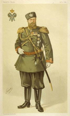 "Alexander III, Emperor of Russia ""My august master"", from Vanity Fair, October 11, 1884"