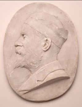 Bas relief of Virgil Williams, founder of the San Francisco Art Association