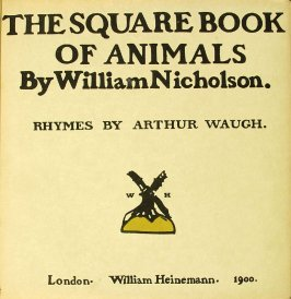 Cover, in the book The Square Book of Animals (London: William Heinemann, 1900)