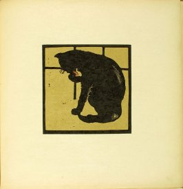 """Untitled, illustration accompanying the rhyme """"The Un-Common Cat,"""" in the book The Square Book of Animals (London: William Heinemann, 1900)"""