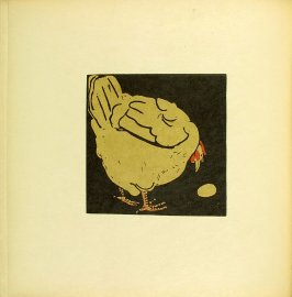 "Untitled, illustration accompanying the rhyme ""The Friendly Hen,"" in the book The Square Book of Animals (London: William Heinemann, 1900)"