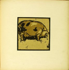 "Untitled, illustration accompanying the rhyme ""The Learned Pig,"" in the book The Square Book of Animals (London: William Heinemann, 1900)"