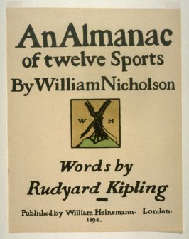An Almanac of Twelve Sports - 12 plates; Title Page