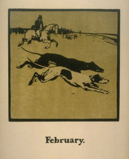 An Almanac of Twelve Sports - 12 plates; February