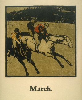 An Almanac of Twelve Sports - 12 plates; March