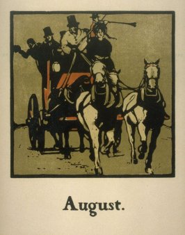 An Almanac of Twelve Sports - 12 plates; August