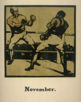 An Almanac of Twelve Sports - 12 plates; November