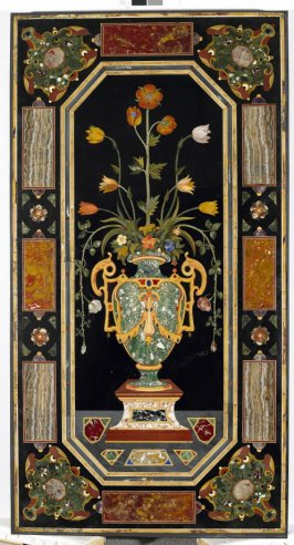 Panel with a Vase of Flowers