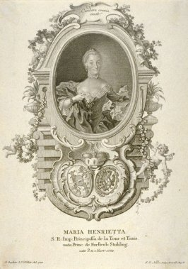 Portrait of Maria Henrietta, Princess of Thurn and Taxis, born 1732