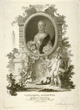 Portrait of Catharina (the Great), Empress of Russia, born 1729, Princess of Angalt-Servest