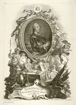 Portrait of Louis XV, King of France, born 1710