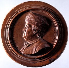 Medallion with bust of Benjamin Franklin