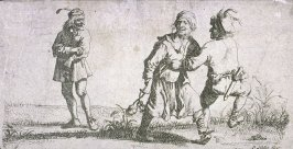 A couple of men dancing (country dance)