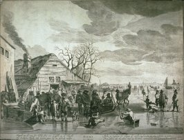 Holland Landscape in Winter with Skaters