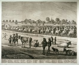 The procession of Henrietta-Maria, Queen of Great Britain, accompanied by the Calvary commanded by the burgomasters, visiting Amsterdam, May 20, 1642. Second print