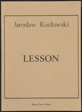 Lesson by Jaroslav Kozlowski (Beau Geste Press:1972-1975)