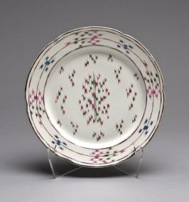 Plate in flamestitch (point de hongrie) pattern
