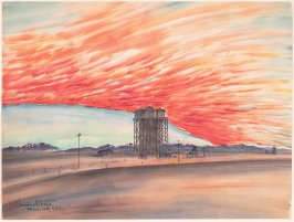 Sunset, Watertower, March 10, 1943