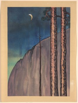 Evening Moon, Yosemite, California, from the World Landscape Series
