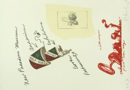 Untitled (New Pasadena Museum), between pgs. III and IV, in the book Notes by Claes Oldenburg (Los Angeles: Gemini G.E.L., 1968)
