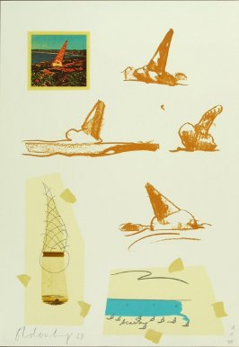 Untitled (Ice Cream Cones), between pgs. IV and V, in the book Notes by Claes Oldenburg (Los Angeles: Gemini G.E.L., 1968)