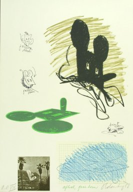 Untitled (Geometric Mouse), between pgs. VII and VIII, in the book Notes by Claes Oldenburg (Los Angeles: Gemini G.E.L., 1968)