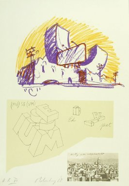 Untitled (City as Alphabet), between pgs. XI and XII, in the book Notes by Claes Oldenburg (Los Angeles: Gemini G.E.L., 1968)