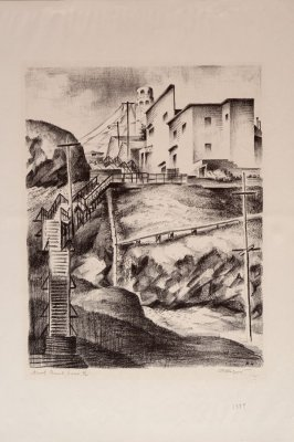 Filbert Street and Stairs to Coit Tower, no. 4 from North Beach Series