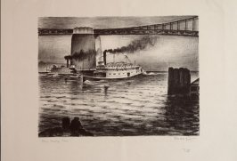 Central Anchorage with Ferries, no. 16 from Building the Bay Bridge