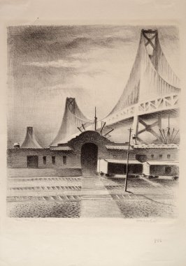 Piers with Bridge to East, no. 7 from Building the Bay Bridge