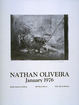 (Poster) Nathan Oliveira: January 1976. Exhibition at Smith Andersen Gallery, Palo Alto, California