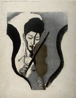 Impression of a Violinist (The woman violinist Negiko Suwa)